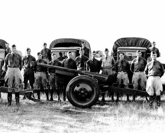 Members of Battery D, 151st Field Artillery