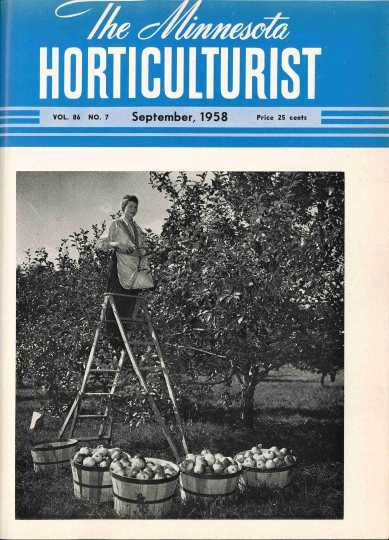 Minnesota Horticulturist magazine cover, June, 1958.