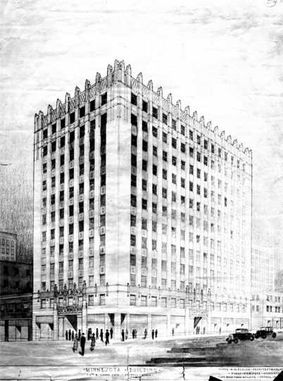 Architectural drawing of the Minnesota Building, c.1928.