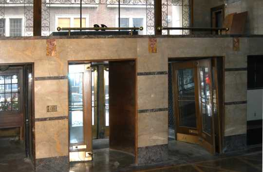 Color image of the interior of the entrance to the Minnesota Building, 2009.