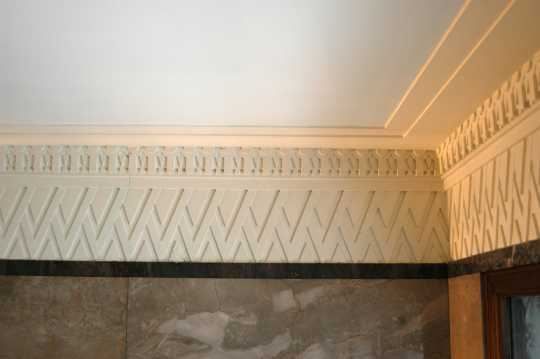 Art Deco  Color image of zig zag plastered crown molding inside the  Minnesota Building 2009  Minnesota Building. Art Deco Molding   xtreme wheelz com