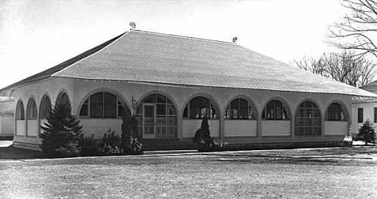 Black and white photograph of the Occupational therapy cottage, Rochester State Hospital, c.1940.