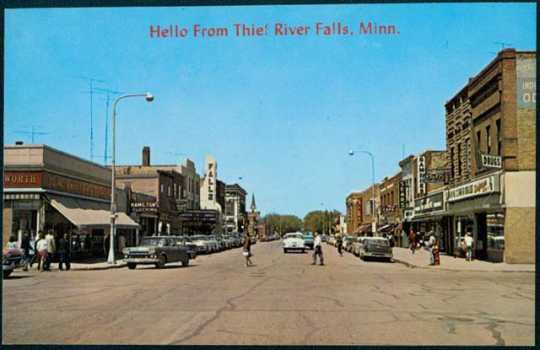 Downtown Thief River Falls, ca. 1958