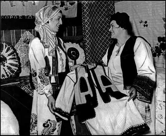 Greek booth at the 1934 St. Paul Folk Festival
