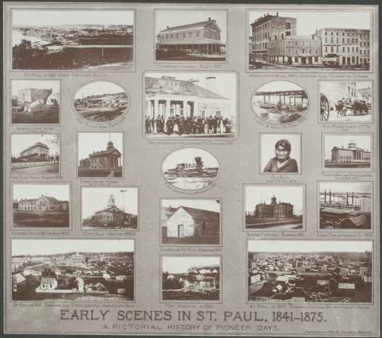 Early scenes in St. Paul, 1841–1875: A Pictorial history of Pioneer Days. Photographs by Edward Augustus Bromley, 1904 (copyright date).