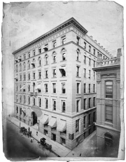 Black and white photograph of the Endicott Building, ca. 1900.