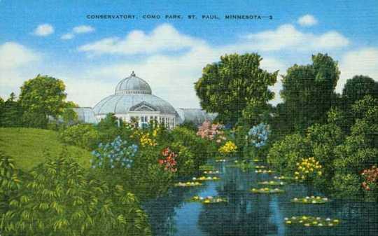 Colorized postcard, ca. 1935.