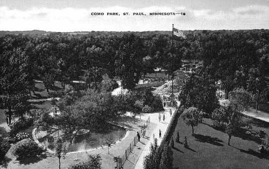 Aerial view of Como Park