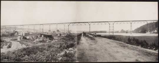 Black and white photoprint of High bridge c.1889.