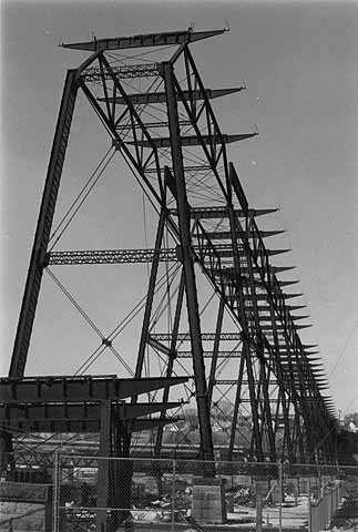 Black and white negative of High bridge c. February 1985.