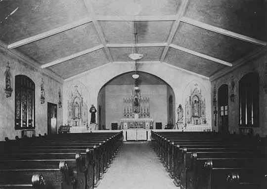 Interior of the original Church of St. Columba
