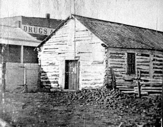Black and white photograph of the Chapel of St. Paul, c.1855.