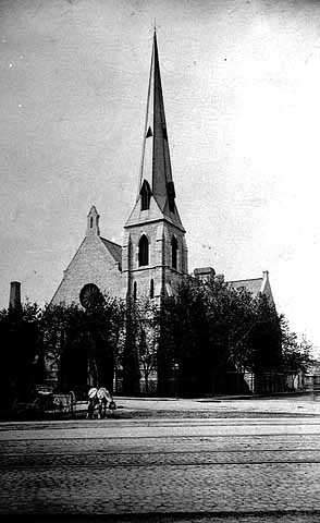 Black and white photograph of House of Hope Presbyterian Church, 1886.