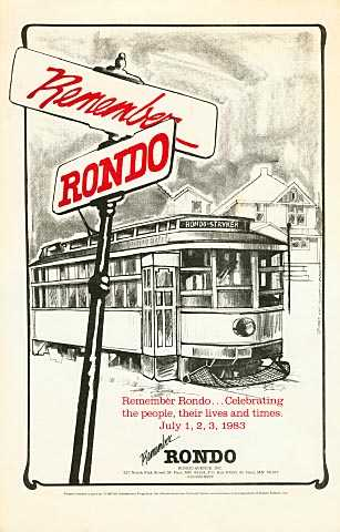 Flyer created to advertise the first Rondo Days celebration, held in St. Paul, 1983.