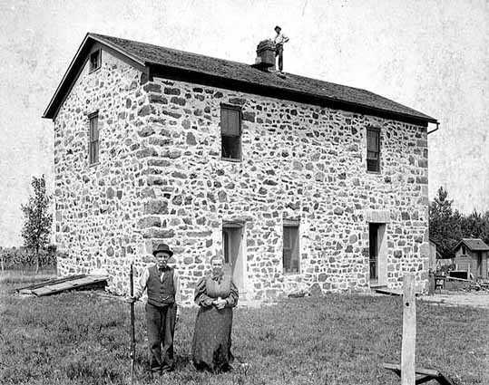 Black and white photograph of the Lower Sioux Agency Building, 1897.