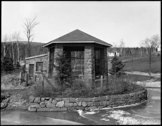 Photograph of Chimpanzee House, Duluth Zoo, ca. 1936.