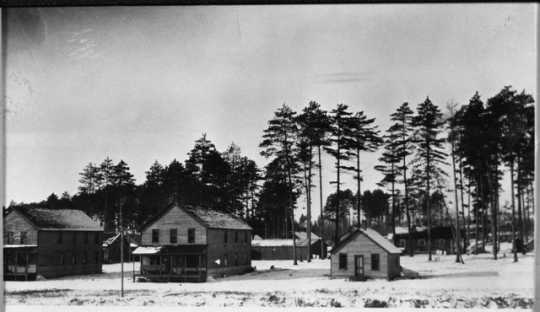 Winter in Cusson, St. Louis County, Minnesota, 1927.