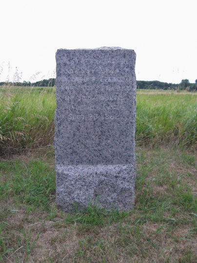 Marker at the site of the Battle of Birch Coulee