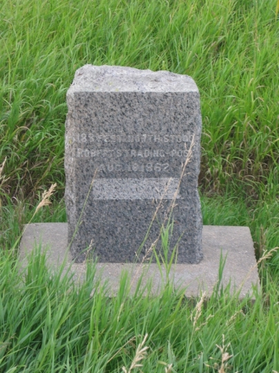 Marker at the site of Roberts' trading post
