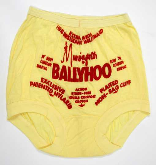 a pair of display briefs used to advertise Munsingwear's underwear