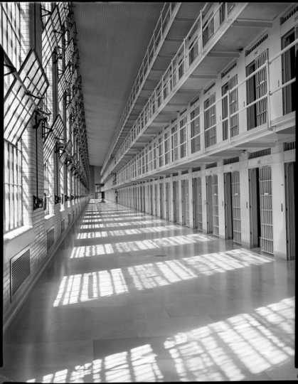 Cell block in Minnesota State Prison, Stillwater