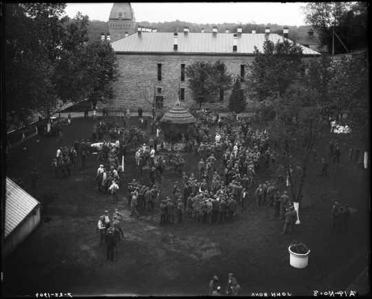 Prison yard at Minnesota State Prison, Stillwater