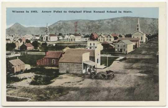 Postcard depicting Winona Normal School
