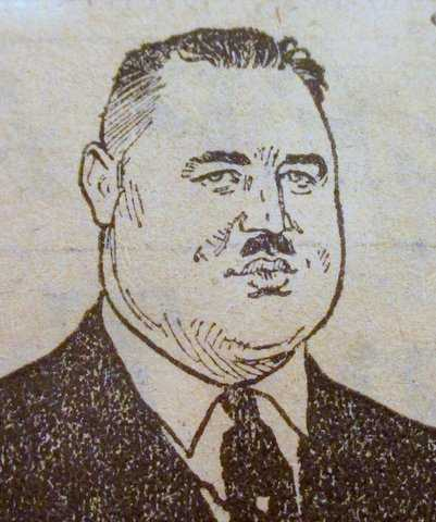 Cartoon portrait of Maas from St. Paul Daily News January 9, 1926.