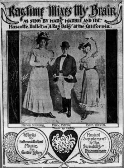 Sheet music featuring Mary Marble