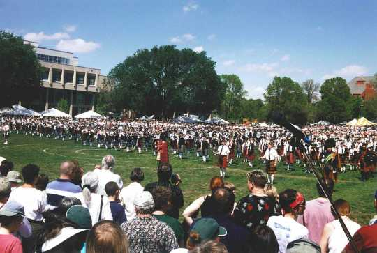 Scottish pipe bands at the Macalester College Scottish Country Fair