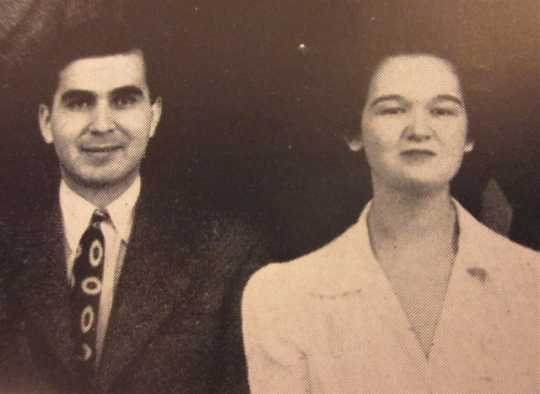 Max and Carol Shulman, ca. 1940s. From a 1940s issue of Ski-U-Mah, the University of Minnesota's humor magazine, available on microfilm at the Minnesota Historical Society.