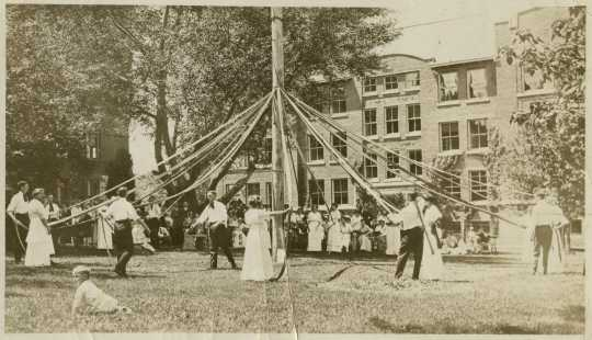 Photograph of May Day Celebration at Macalester, 1915