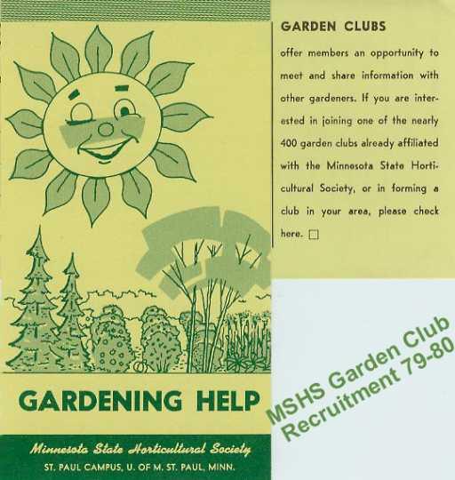Minnesota State Horticultural Society, Gardening Help Brochure, 1979.