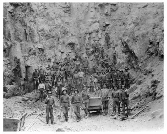 Miners at Soudan Mine