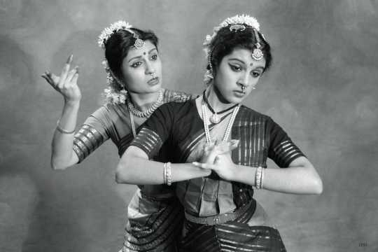 Promotional photograph of Ranee and Aparna Ramaswamy for production of Mirabai Visions