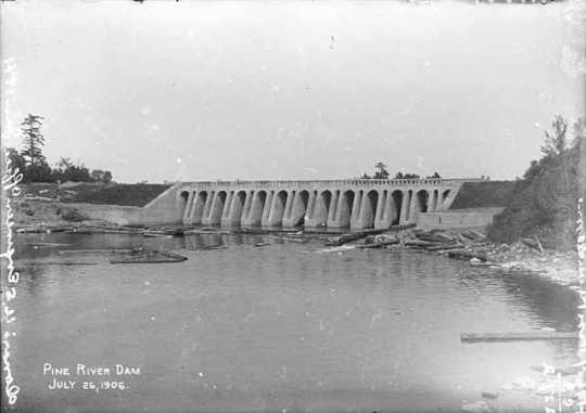 Pine River Dam, Cass County.