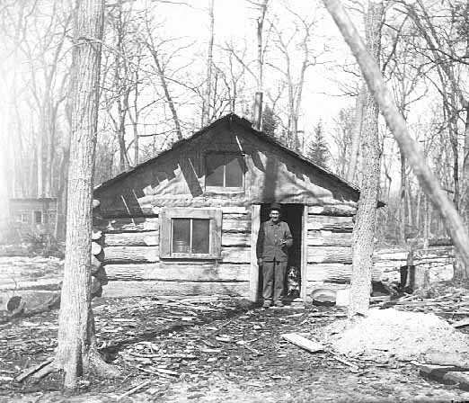 Log house, White Earth Reservation.