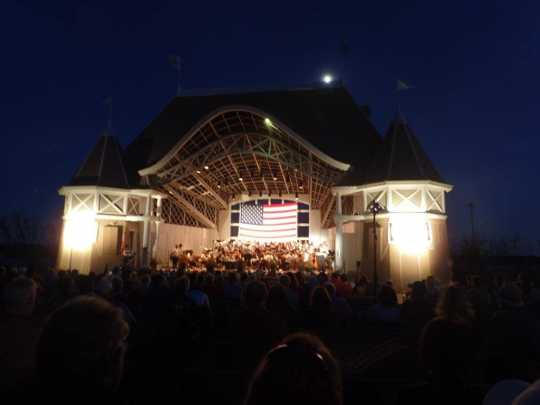 Moonlight over the Lake Harriet bandshell
