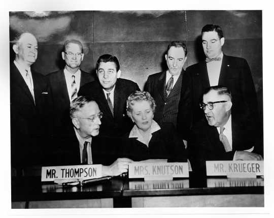 Photograph of Knutson and other members of the Agricultural Committee