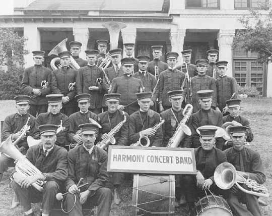 Photograph of Harmony's Concert Band, 1919
