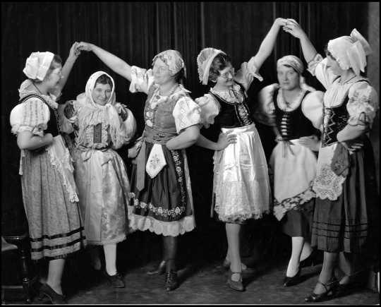 Czech folk dancers at the 1934 St. Paul Folk Festival