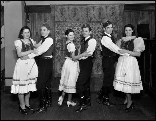 Hungarian folk dancers at the 1934 St. Paul Folk Festival