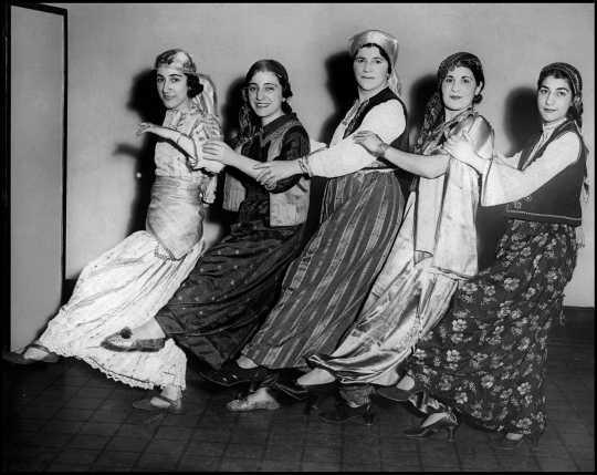 Armenian folk dancers at the 1934 St. Paul Folk Festival