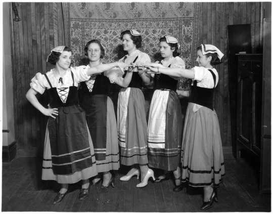 Italian folk dancers at the 1934 St. Paul Folk Festival