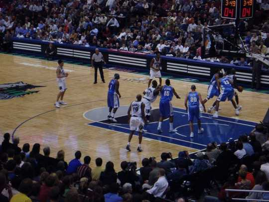 Playoff game between the Minnesota Timberwolves and the Denver Nuggets