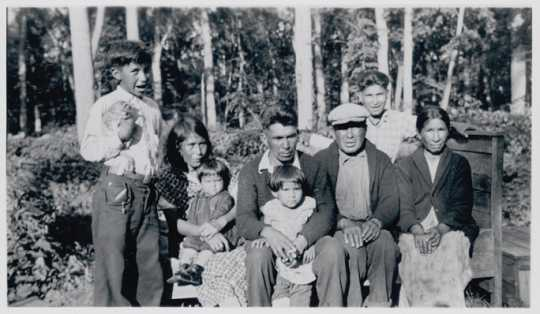 Nathan Whitefeather and family