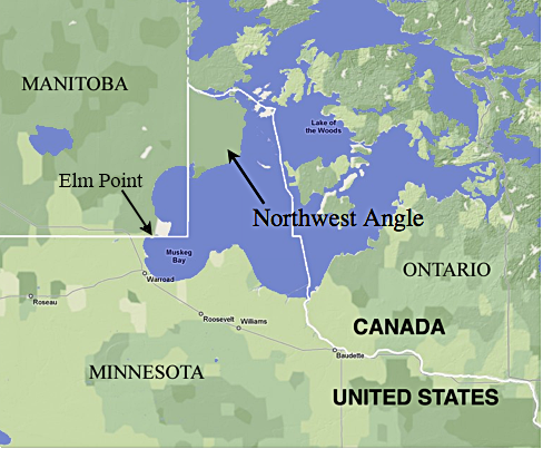 Color Map of the Northwest Angle