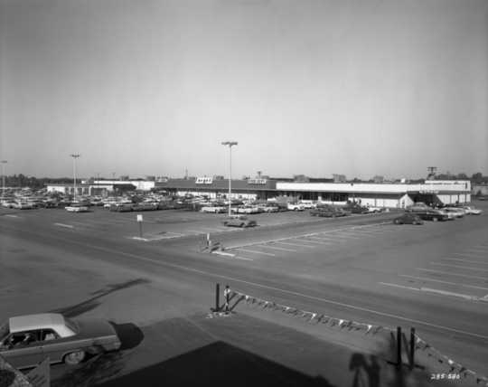 Black and white photograph of Target store, Roseville, 1963.