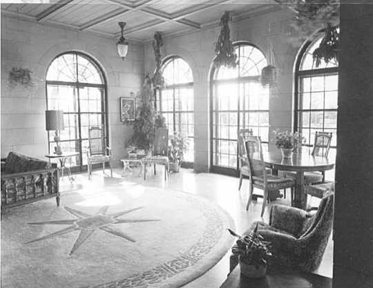Solarium, governor's residence