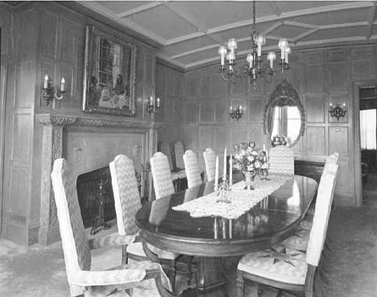 Dining room, governor's residence